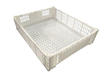 disposable folding crate mould