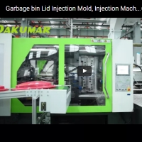 Garbage bin Lid Injection Mold, Injection Machine, Plastic Injection Molding Line