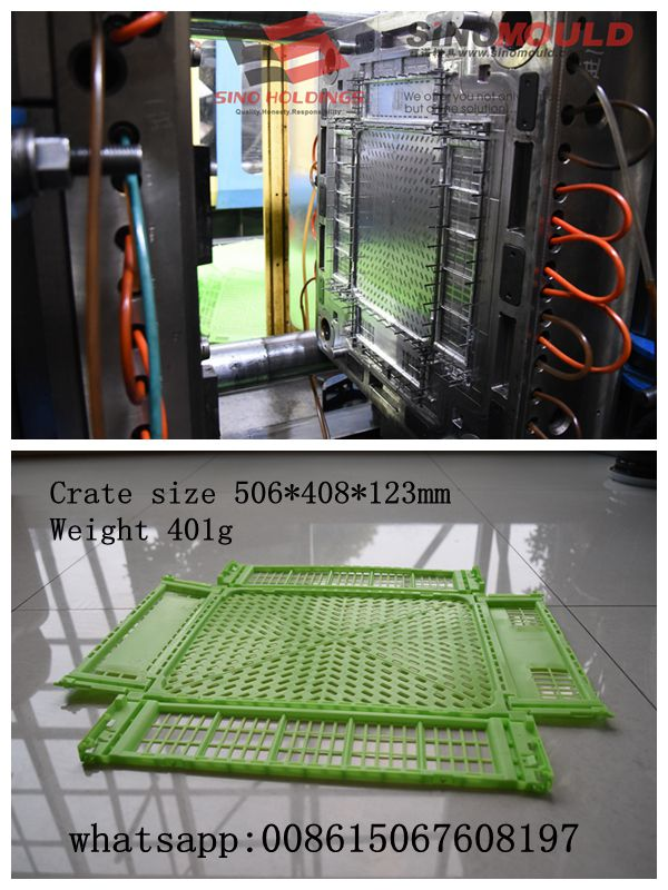 Folding Type Crates Injection Mould